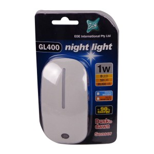LED Sensor Night Light White Mouse 1W
